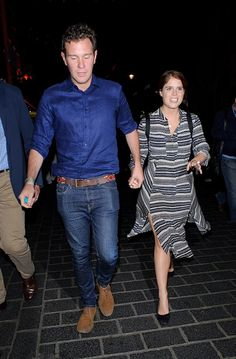 Princess Eugenie and boyfriend Jack Brooksbank seen headed to the upmarket China Tang Chinese restaurant for a late dinner in Mayfair on September 22, 2016