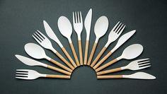 riccardo randi combines wood+plastic in take-away cutlery set