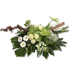 Midori als afbeelding) Funeral Flower Arrangements, Funeral Flowers, Floral Arrangements, Midori, Grave Decorations, Floral Wreath, Wreaths, Rose, Plants