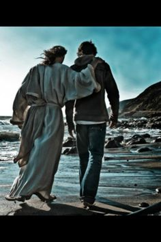 My son, walking with Jesus. His birthday was yesterday, January 15, and today I was given this photo, and I swear it looks just like my wonderful son in Heaven... Takes my breath away to look at this photo.