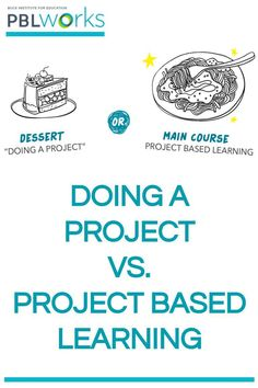 """""""Doing a Project"""" vs. Project Based Learning Are your students doing """"dessert"""" projects or Project Based Learning? If you're new to PBL and you're pondering this question, we have a new resource–including a pop quiz! –to help clarify the difference. Instructional Coaching, Instructional Technology, Instructional Strategies, Instructional Design, Problem Based Learning, Inquiry Based Learning, Project Based Learning, Early Learning, Cult Of Pedagogy"""