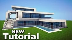 Modern mansion floor plans minecraft beautiful minecraft how to build a realistic modern house mansion Minecraft Mods, Minecraft Mansion Tutorial, Minecraft Houses Survival, Easy Minecraft Houses, Minecraft House Tutorials, Minecraft House Designs, Minecraft Tutorial, Minecraft Creations, Minecraft Buildings