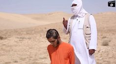 The ISIS militant, dressed in white, tells the camera the soldier will be run over as punishment for running over the dead bodies of jihadis