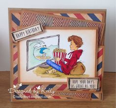 LOTV - Oliver Film Night with Set 101 Teenage Boy Sentiments by Kelly Lloyd Homemade Birthday Cards, Birthday Cards For Boys, Birthday Gifts For Girlfriend, Boyfriend Birthday, Boy Birthday, Boy Cards, Kids Cards, Men's Cards, Digi Stamps Free