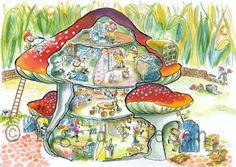 Kabouter huisje (paddenstoel)