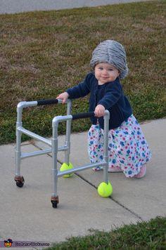 Una gran idea! Hermosa y Original Baby Grandma #halloween #disfraces #bebes