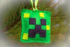 felt minecraft creeper Christmas Decoration