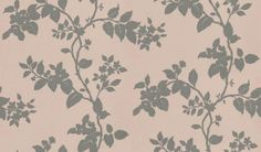 Cult (CA9086/081) - Carlucci di Chivasso Wallpapers - A beautiful floral trail, apple blossom in silhouette. Drawn in silver metallic ink on a soft pale pink background.
