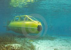 Two Man Wet Sub Yellow Submarine by Richard Drew, via Dreamstime
