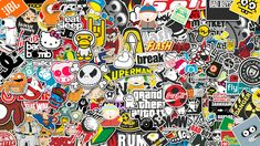 Sticker wallpaper