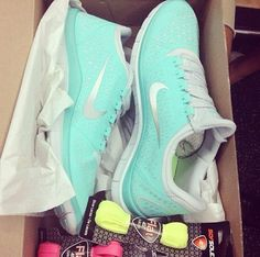 #Blue Nikes Running Shoes