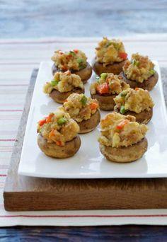 Mini stuffed mushroom recipe from Hidden Valley! Quick and easy!