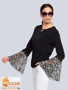 Es geht drunter drüber – mit diesem Shirt im klassischen Stil von Alba Moda das sich sowohl einzeln als auch u... #BAUR #AlbaModa #Rabatt #25 #Marke #Alba #Moda #Farbe #schwarz #Material #Elasthan #Polyester #Onlineshop #BAUR #Damen #Bekleidung #Damenmode #Sale #Shirts #Sweatshirts #TShirts | sportliche Outfits, Sport Outfit | #mode #modeonlinemarkt #mode_online #girlsfashion #womensfashion Bell Sleeves, Bell Sleeve Top, Alba Moda, Sport Outfit, Mode Online, Sequin Skirt, Sequins, Skirts, Tops