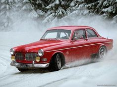 When Santa gets down and dirty in the Swedish snow, he does it in a Volvo.