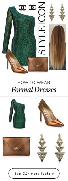 """""""Formal and Sultry"""" by marisaleee on Polyvore featuring Ariella, Manolo Blahnik, Vivienne Westwood, House of Harlow 1960, women's clothing, women's fashion, women, female, woman and misses"""