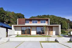 蜂屋の家 | WORKS WISE 岐阜の設計事務所 Japanese Modern House, Facade House, Minimalist Home, Modern House Design, Exterior, House Styles, Building, Home Decor, Beach Houses