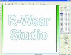 R-Wear Studio software is used to create designs for heat-applied lettering, logos, graphics and templates for hot-fix rhinestones using a vinyl cutter or engraving machine. It includes a digital library with 500 styles of Swarovski rhinestones. Imprintables Warehouse, www.imprintables.com.