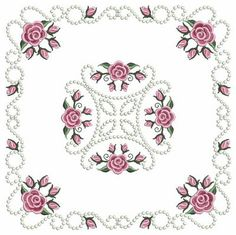 Pearl Roses Corners  - Ace Points | OregonPatchWorks