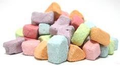 Marshmallow Bits, just like the ones in Lucky Charms and Marshmallow Mateys.