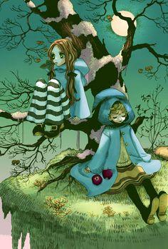 """It is 100 years since our children left. i II iii - Manga Girl, Anime Art Girl, Manhwa Manga, Anime Manga, Honey And Clover, Fantasy Comics, Anime Tattoos, I Love Anime, Magical Girl"