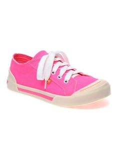 Look what I found on #zulily! Pink Neon Canvas Jazzin' Sneaker by Rocket Dog #zulilyfinds
