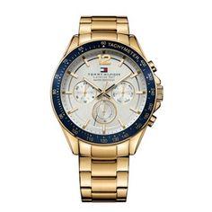 Tommy Hilfiger - Men\'s Luke Chrono Gold Stainless Steel Watch - 1791121 - Online Price: £155.00