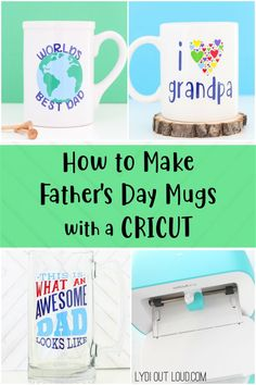 See how easy it is to decorate a mug for Father's Day with a Cricut. They make a very special customized gift for the dad(s) in your life. Diy Father's Day Mug, Father's Day Diy, Fathers Day Mugs, Fathers Day Crafts, Do It Yourself Organization, Worlds Best Dad, Diy Mugs, Cricut Tutorials, Cricut Ideas