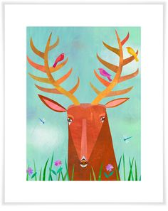 Forest Adventure - Deer, Woodland Art Prints   Oopsy Daisy
