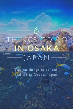 6 Things To Do While You're Visiting Osaka, Japan There are so many things that you could do in Osaka. Visit the aquarium, hop on a ferris wheel, eat some delicious sushi. The options are endless. Japan Travel Guide, Asia Travel, Travel Guides, Travel Trip, London Travel, Spain Travel, Travel Hacks, European Travel, Thailand Travel
