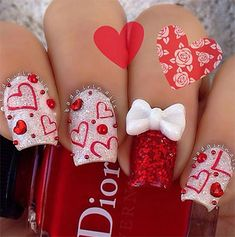 32 Best 3d Valentine S Day Nail Art Designs Images On Pinterest