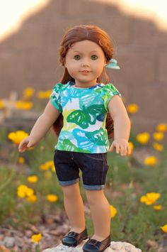 AG Outfit by RoyalDollBoutique using the Liberty Jane T-shirt Variations and Jeans Patterns - LOVE it!
