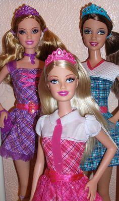 Barbie Charm School Delancey, Blair & Hadley by paddingtonrose, via Flickr