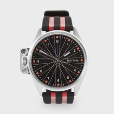 Paul Smith - Black And Red Solar-Powered 'General Classification' Watch