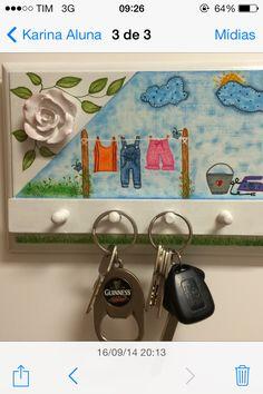 Porta chaves pintura decorativa