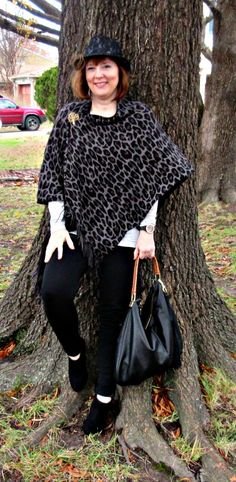 Ruana Wrap Outfit, Over 40 Fashion Blogger