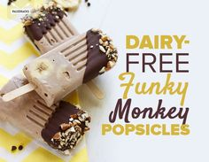 Dairy-Free Funky Monkey Popsicles