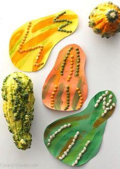 DIY Gourd Fall Kids Craft - Raising Whasians