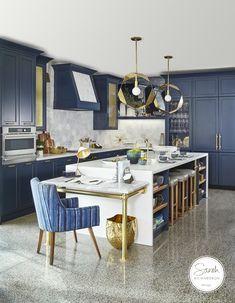 Sarah Richardson S Monogram Design Centre Kitchen I Love The Vintage Display, Beach House Kitchens, Home Kitchens, Condo Kitchen, Farmhouse Kitchens, Dream Kitchens, Kitchen Sink, Kitchen Island, Benjamin Moore