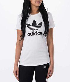0ff77c021 Adidas Women s Originals Trefoil T-Shirt Adidas Dame