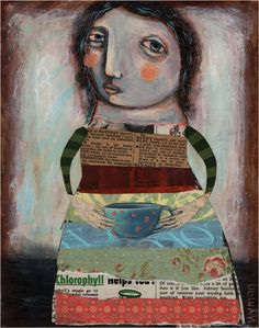 collage with tea cup sarah wyman