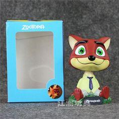 Cute Disney Cartoon Movie Zootopia Nick Fox 10cm PVC Action Figures Miniatures Animals Dolls Toys Gifts For Kids Car Decoration