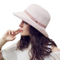 151e8b8ede563 Fitted Straw Bucket Hat. Sun Hats For WomenWoman ...