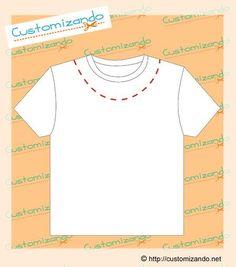 cortes de customização de camiseta Sewing Clothes, Diy Clothes, Cut Tee Shirts, Customise T Shirt, Shirt Refashion, Custom Tees, Fabric Patterns, Sewing Hacks, Dressmaking