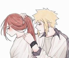 Uploaded by ~ Naho ~. Find images and videos about cute, art and anime on We Heart It - the app to get lost in what you love. Anime Naruto, Naruto Minato, Anime Girlxgirl, Naruto Cute, Naruto Family, Naruto Couples, Anime Couples, Kushina Hot, Karin Uzumaki