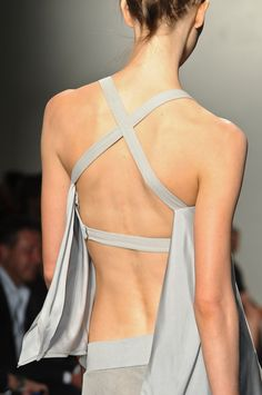 Donna Karen Spring 2013 RTW. I couldn't wear this cuz it would show my back rolls! Lol. Buys the back is cute!