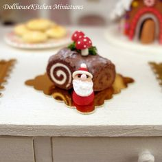 Hey, I found this really awesome Etsy listing at https://www.etsy.com/listing/211836408/christmas-chocolate-log-dollhouse
