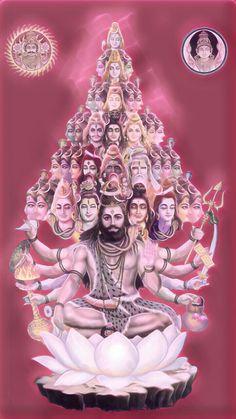 Lord shiva as vishvarup or viratrup or cosmic god