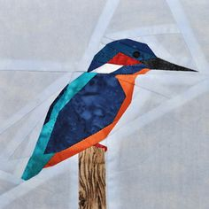 I love kingfishers! I would love to incorporate this into a quilt sometime.