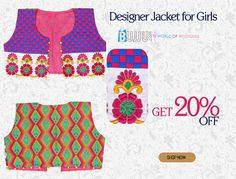 Buy this Cotton Designer Jacket at now at best price...  Product Name:Multicolor Cotton Designer Jacket for Girls Product Code:MIJA9MB110 Retail Price: Rs.750/ Product Price:Rs.600/ Buy at link:http://bit.ly/1Jrovum