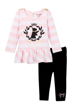 Scottie Dog Striped Peplum Tunic & Pant Set (Baby Girls) by Juicy Couture on Juicy Couture Baby, Scottie Dog, Mom Style, Mom And Dad, Baby Girls, Peplum, Girl Outfits, Tunic, Graphic Sweatshirt